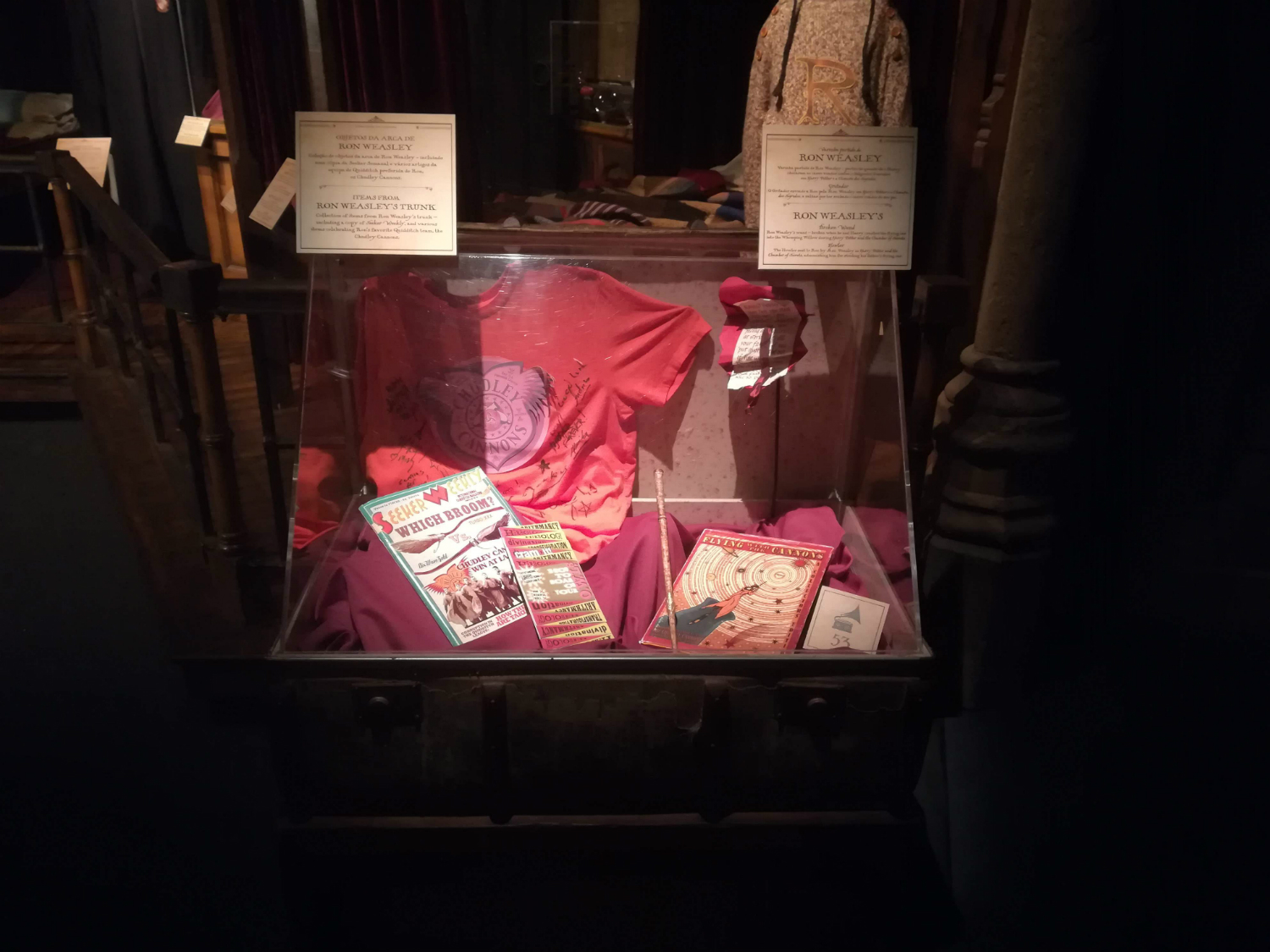 "Ron Weasley's trunk is on display at ""Harry Potter: The Exhibition"" in Lisbon."