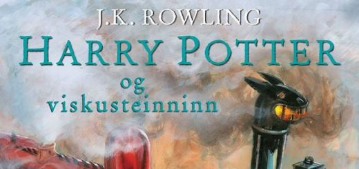 Front cover of Harry Potter and the Sorcerer's Stone Icelandic illustrated edition.