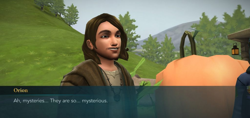 "A screenshot from ""Harry Potter: Hogwarts Mystery"" shows Orion Amari."