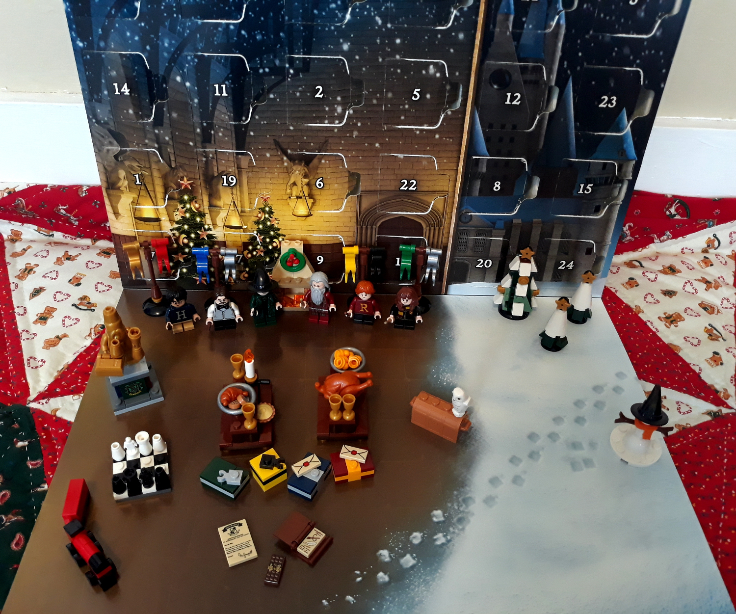 Final photo of the LEGO Harry Potter Advent Calander