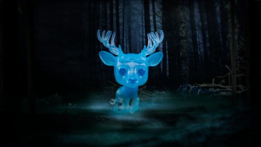 An image showing the stag Patronus Funko Pop!.