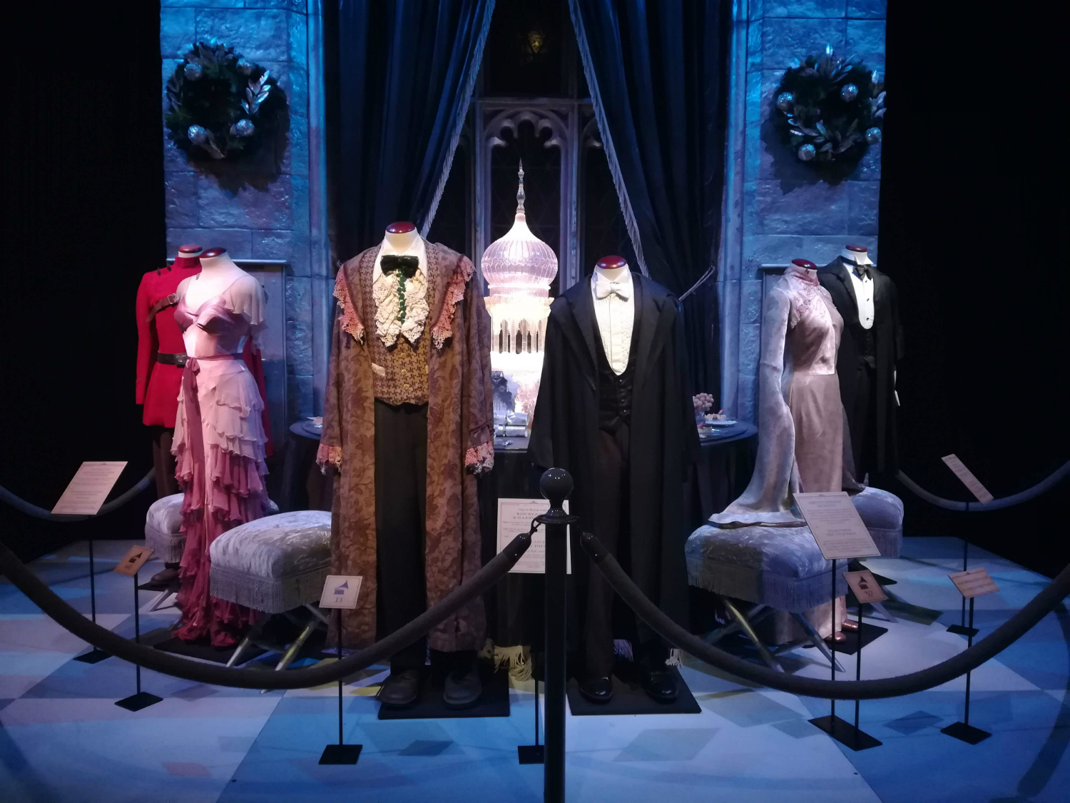 "Yule Ball costumes are on display at ""Harry Potter: The Exhibition"" in Lisbon."