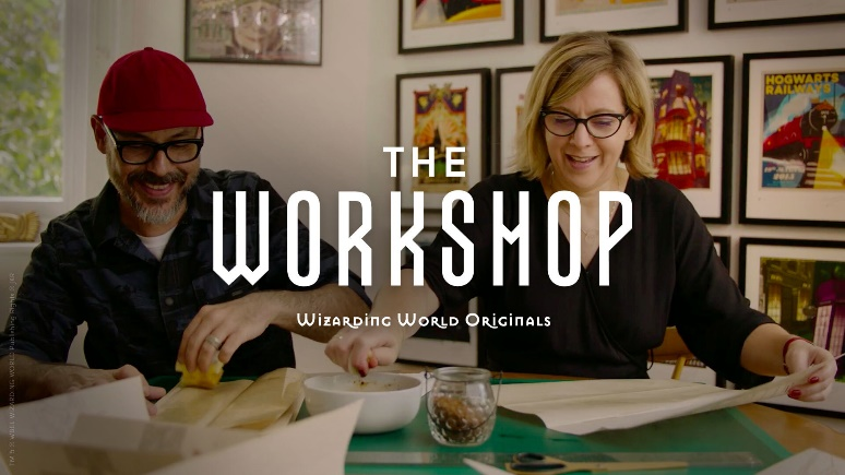 """The Worshop"" logo with graphic designers Mina and Lima"