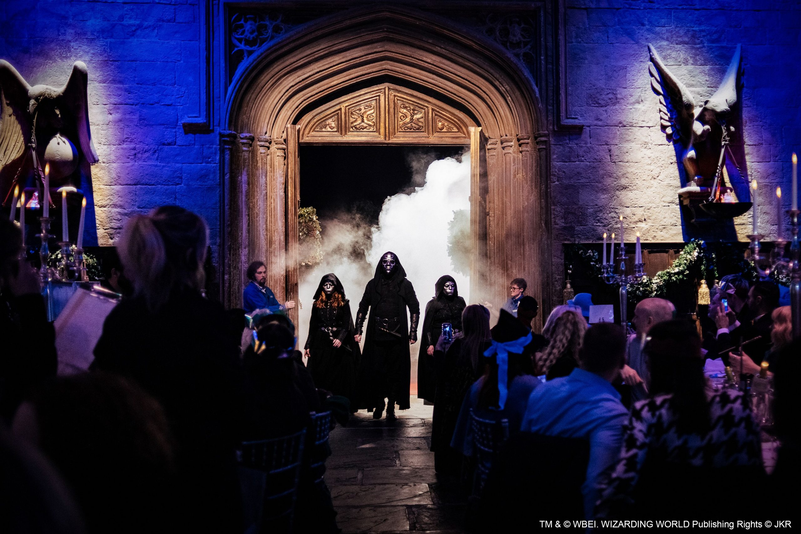 The feast even had a surprise mid-dinner visit from some party-crashing Death Eaters.