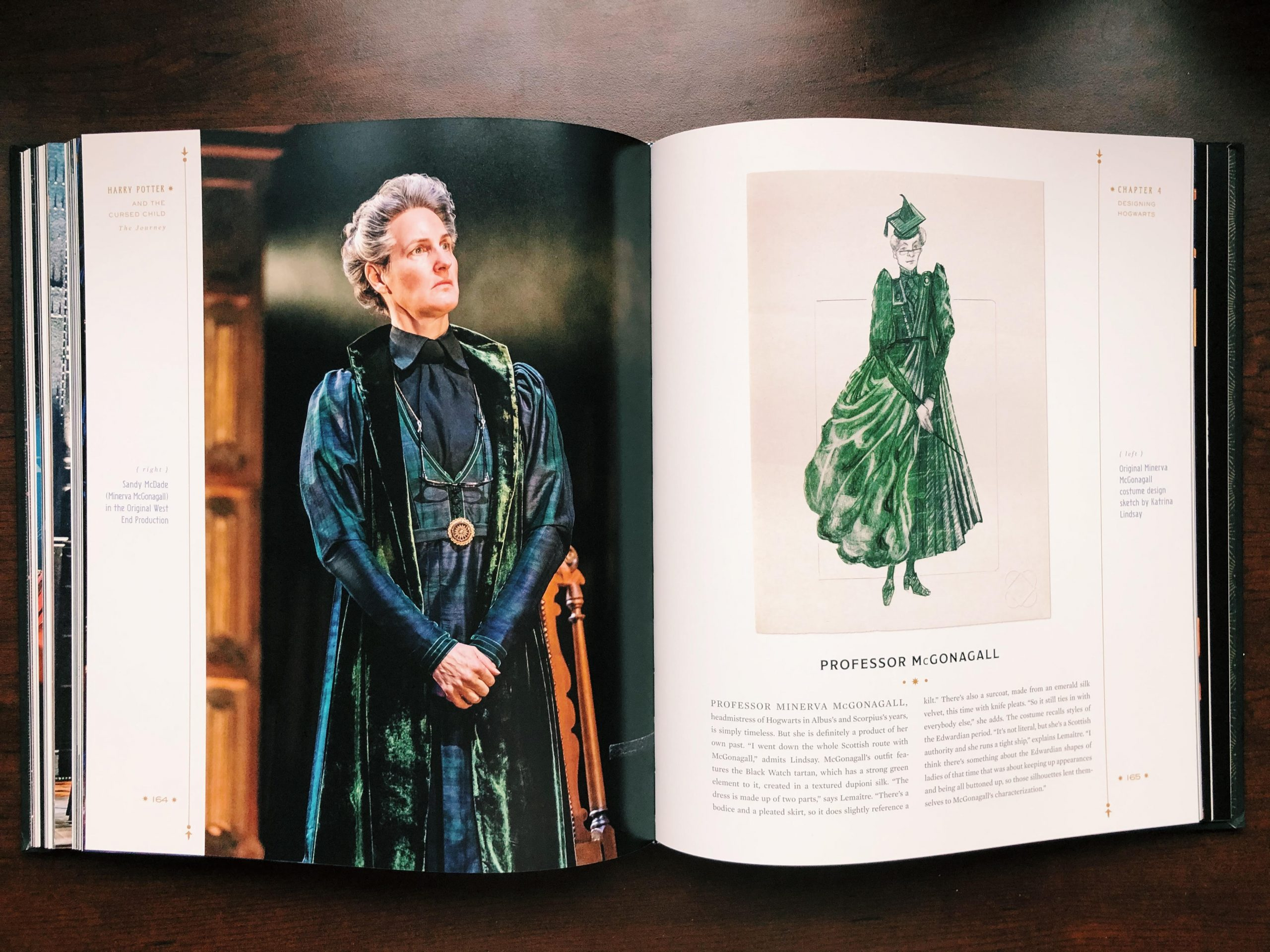 Costume designer Katrina Lindsay explains the inspiration behind McGonagall's look.