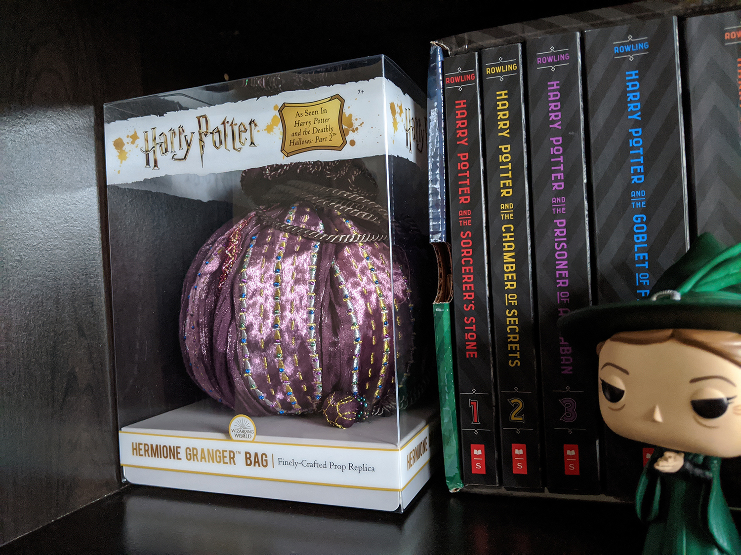 Hermione's bag, packaged on shelf