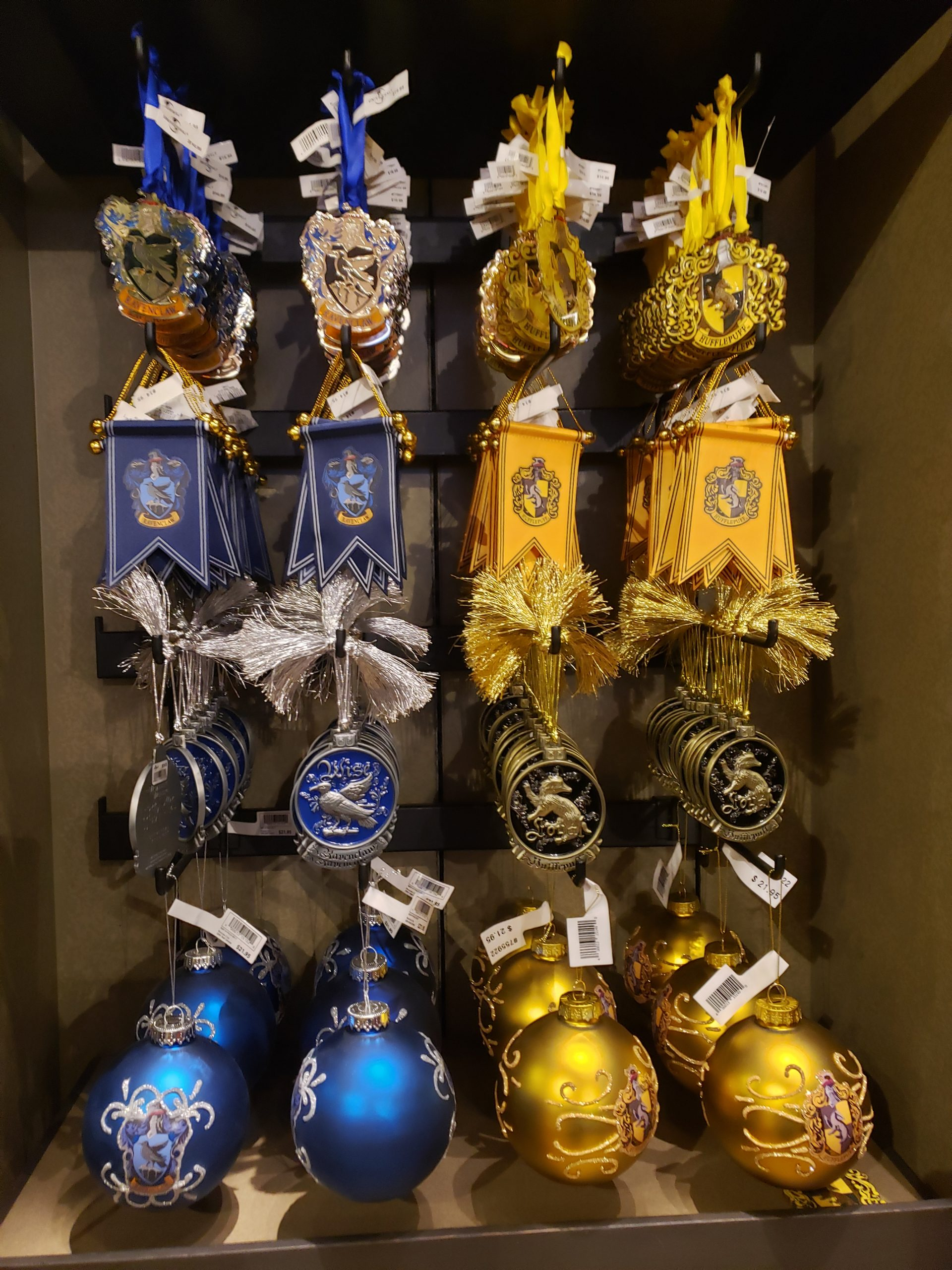 Hufflepuff and Ravenclaw Ornaments