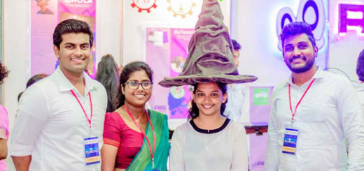 Adhisha Gammanpila, Tehani Wanniarachchi, , Viraji Amarajeewa, and Asela Wijesinghe are pictured with their Sorting Hat.