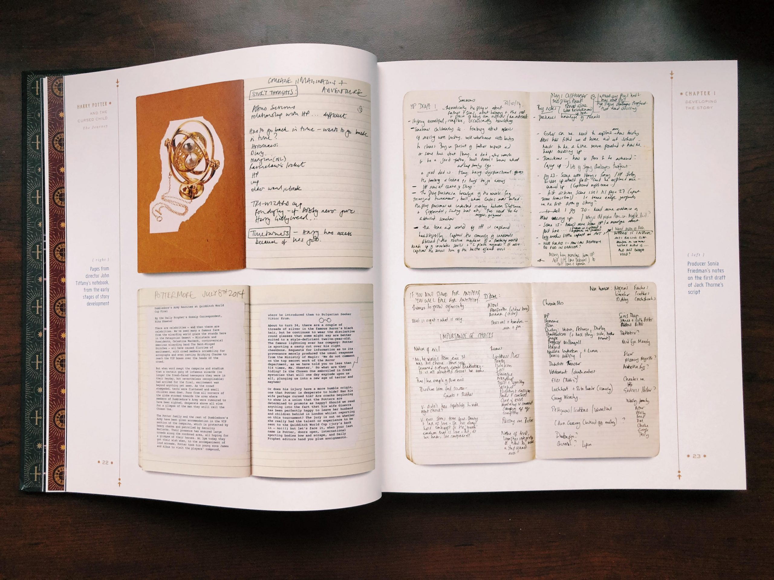 """""""The Journey"""" features notes from early drafts of the play."""