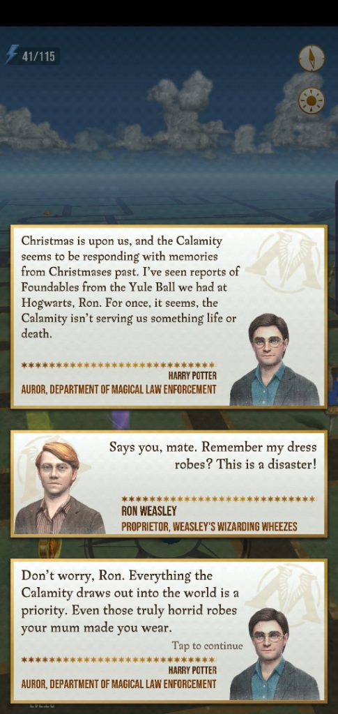 "Ron Weasley wants you to rid the world of his dress robes in ""Harry Potter: Wizards Unite""."