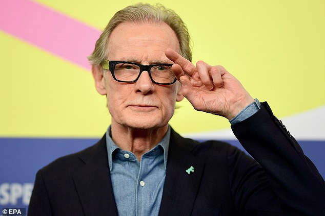 Bill Nighy salutes the crowd at the BIFF.