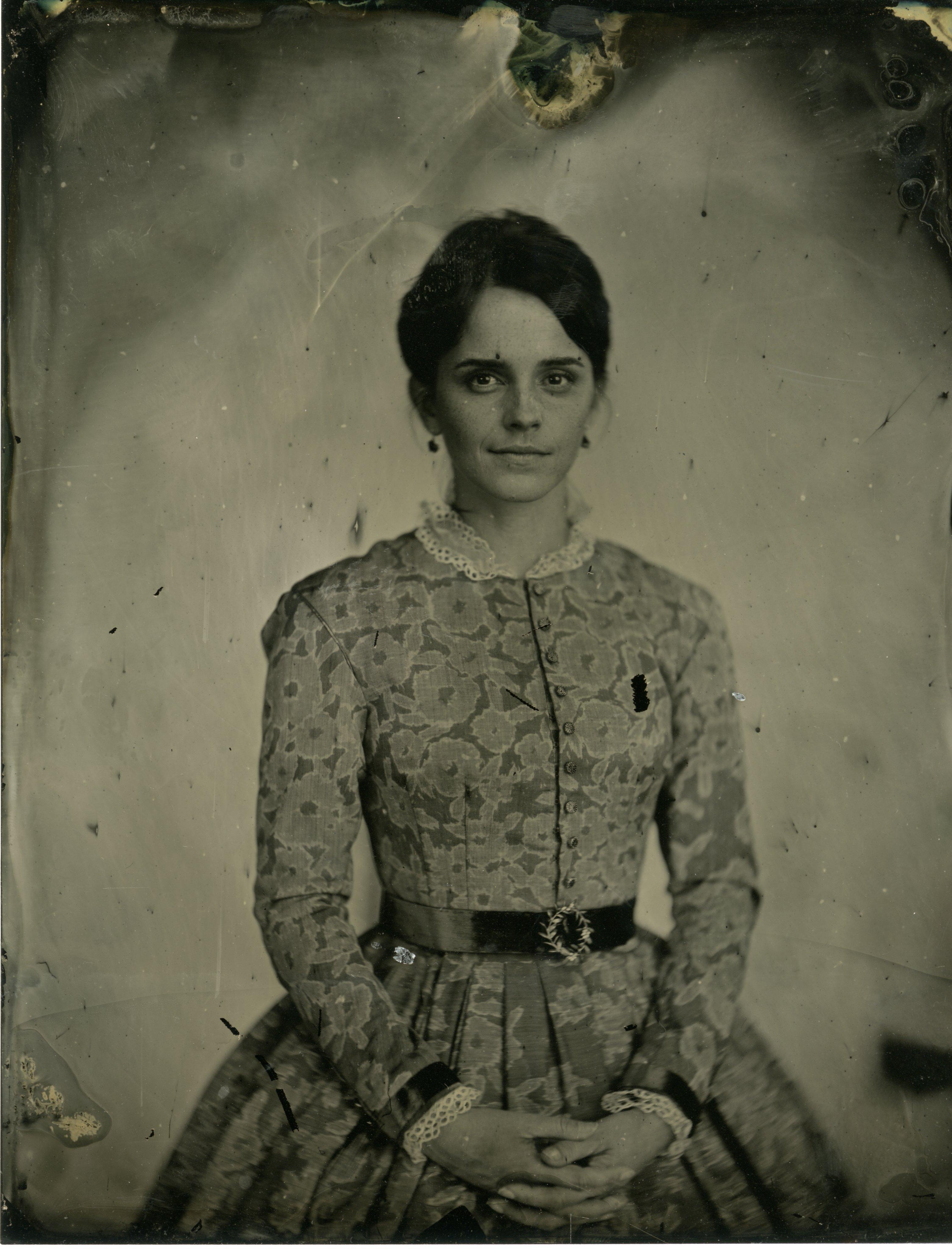 Actress Emma Watson portrays Meg March.