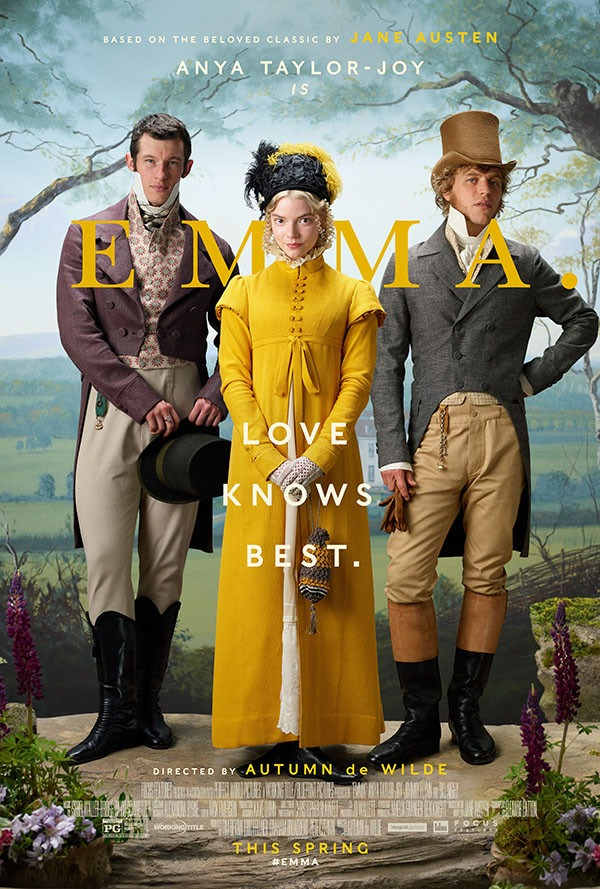 "Callum Turner features in the movie poster for ""Emma""."