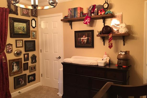 "Parents Casey and Kaycee Daniel shared photos of their son's ""Harry Potter""-themed nursery."