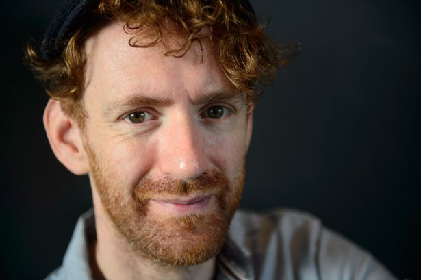 Chris Rankin is photographed during an interview with WalesOnline.