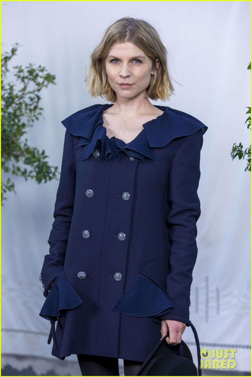 Clemence Poesy poses for a photo at the Chanel fashion show.