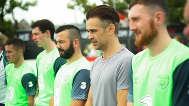 "Colin Farrell in a scene from ""Street Leagues""."