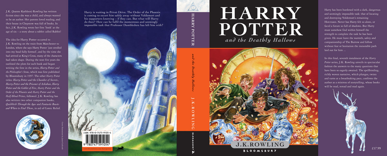 """Harry Potter and the Deathly Hallows"" UK Children's Edition Cover"