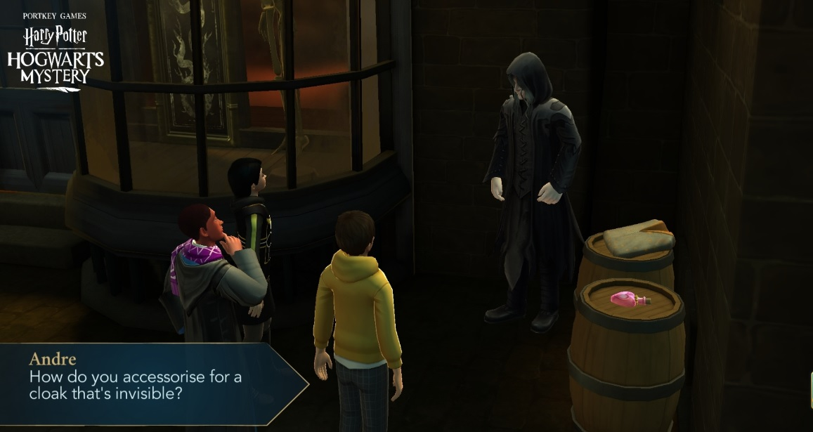 "Andre Egwu has his priorities straight in ""Harry Potter: Hogwarts Mystery""."