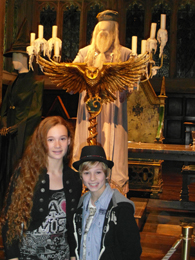 Ellie Darcey-Alden (Young Lily Evans) with Dumbledore's costume at WB Studio Tour, 2012