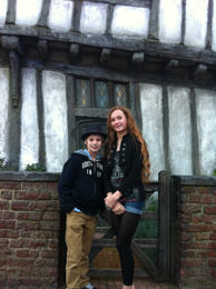 Ellie Darcey-Alden (Young Lily Evans) outside the Potters' House at WB Studio Tour, 2012