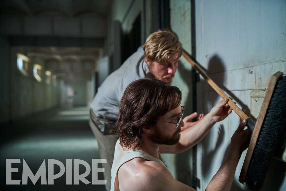 "Daniel Radcliffe and Daniel Webber in a scene from ""Escape from Pretoria""."