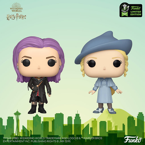 "This year's Emerald City Comic Con Funko ""Harry Potter"" Pop! exclusives include Nymphadora Tonks and Fleur Delacour."