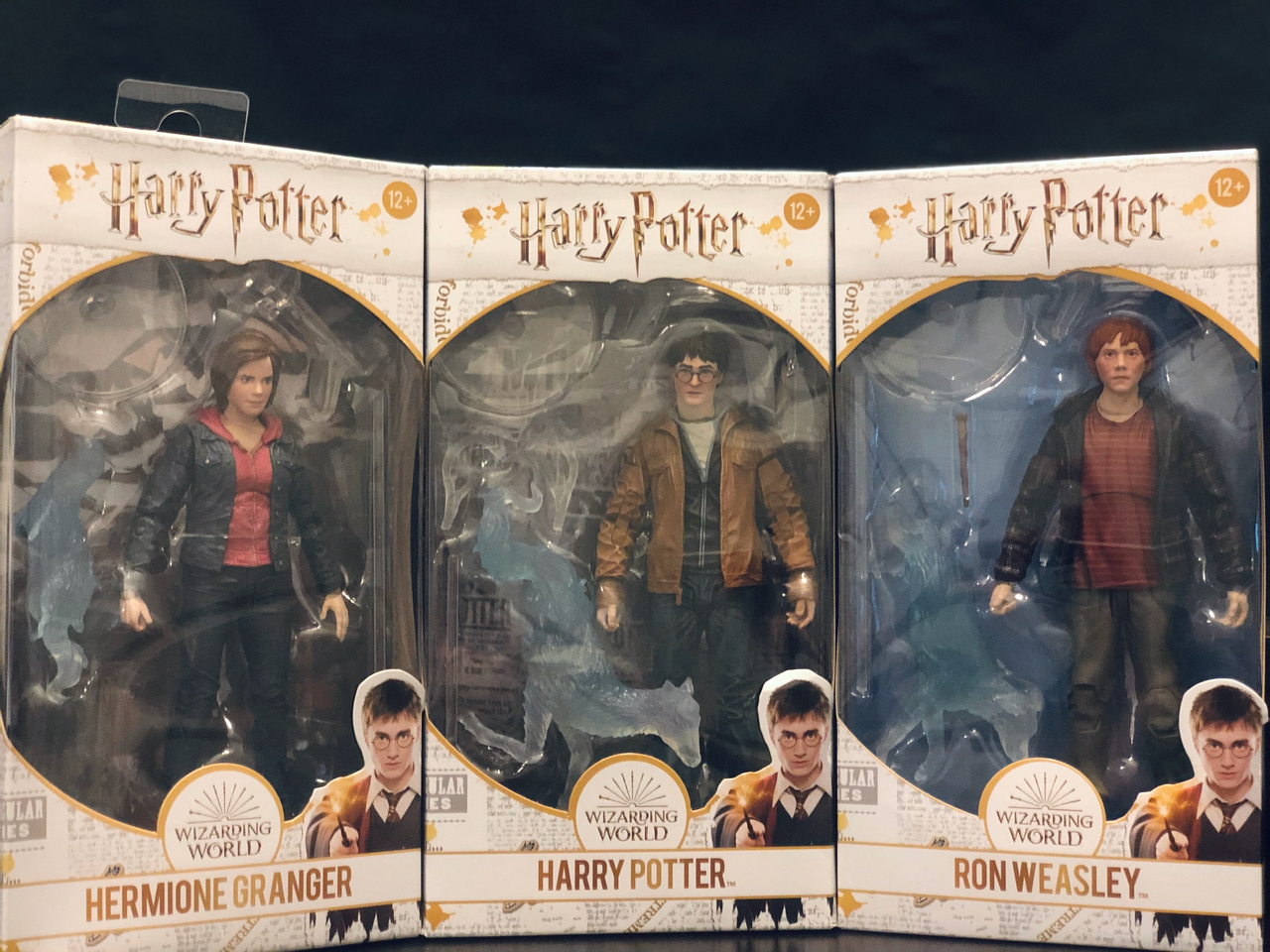 The golden trio in boxes