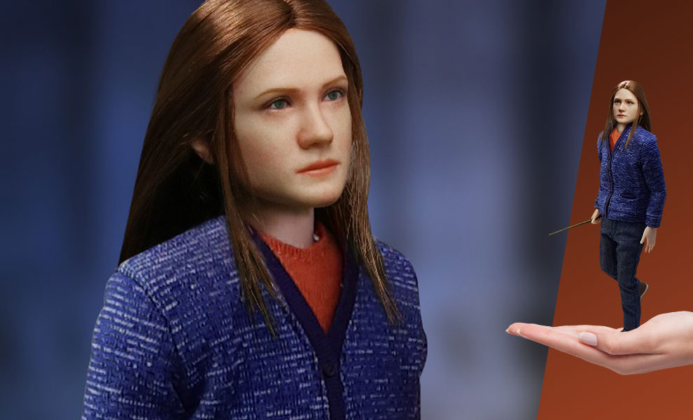 A prototype of the Ginny Weasley (Casual Wear) figure from Star Ace Toys, as sold by Sideshow Collectibles, is pictured.