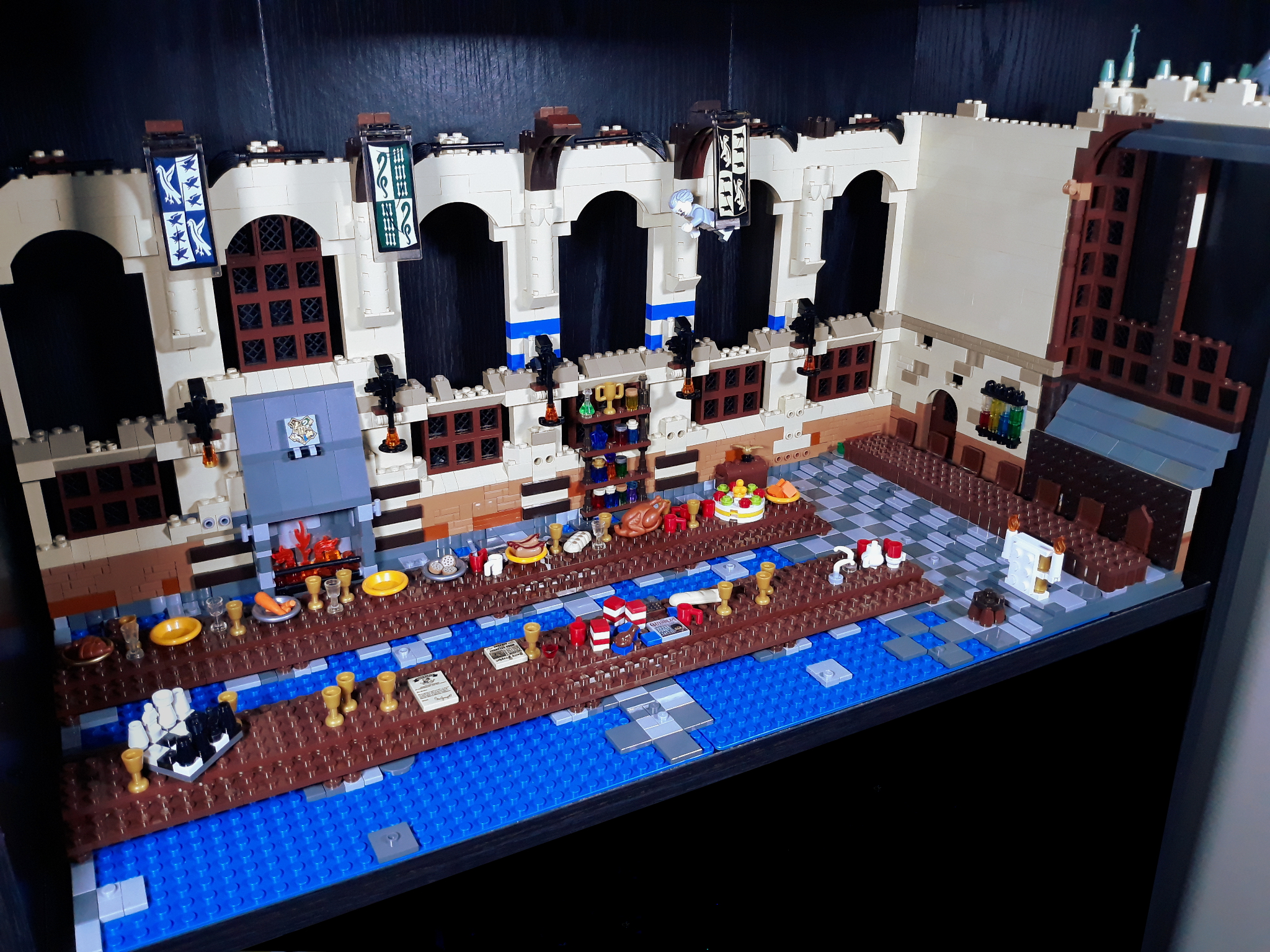 Lego Great Hall partially built