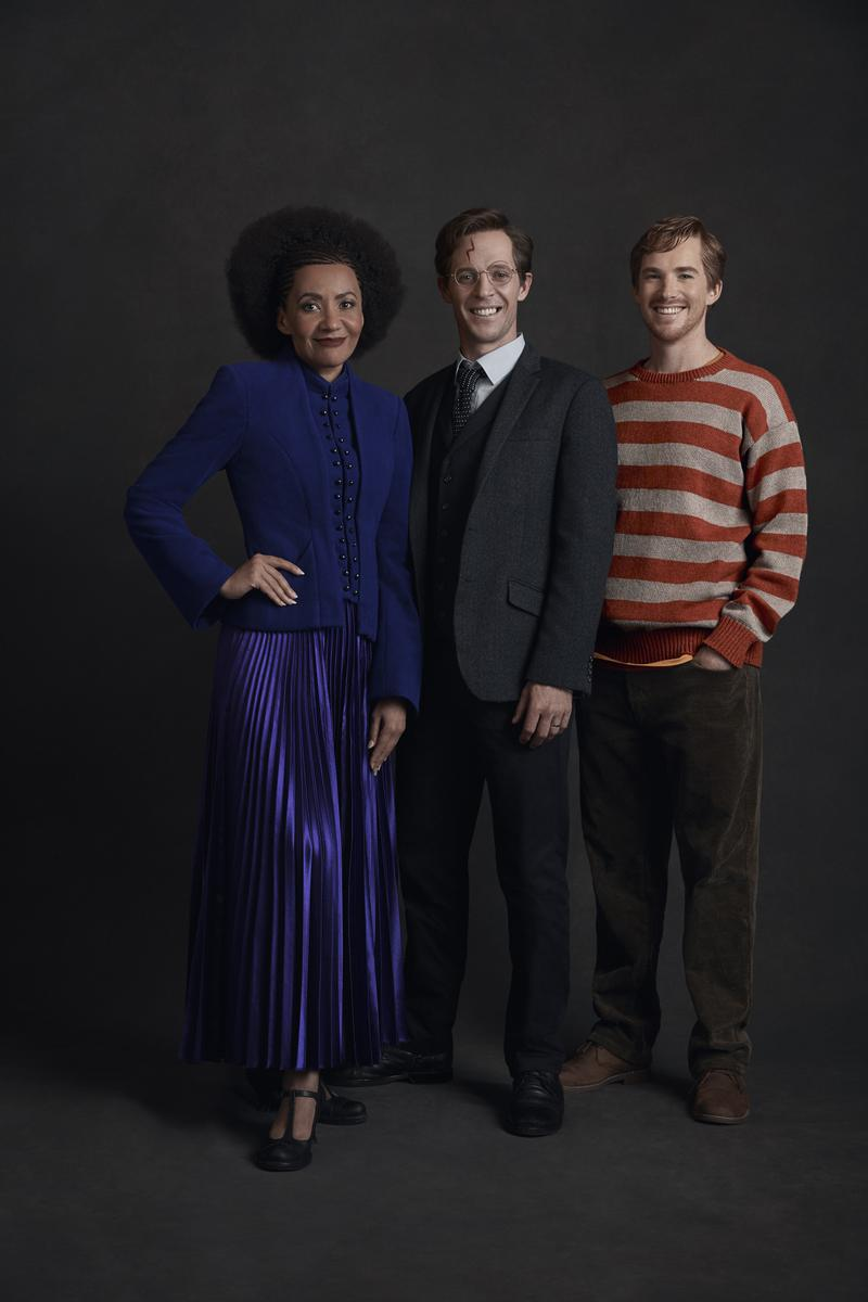 From left: Paula Arundell as Hermione Granger, Gareth Reeves as Harry Potter, and Michael Whalley as Ron Weasley.