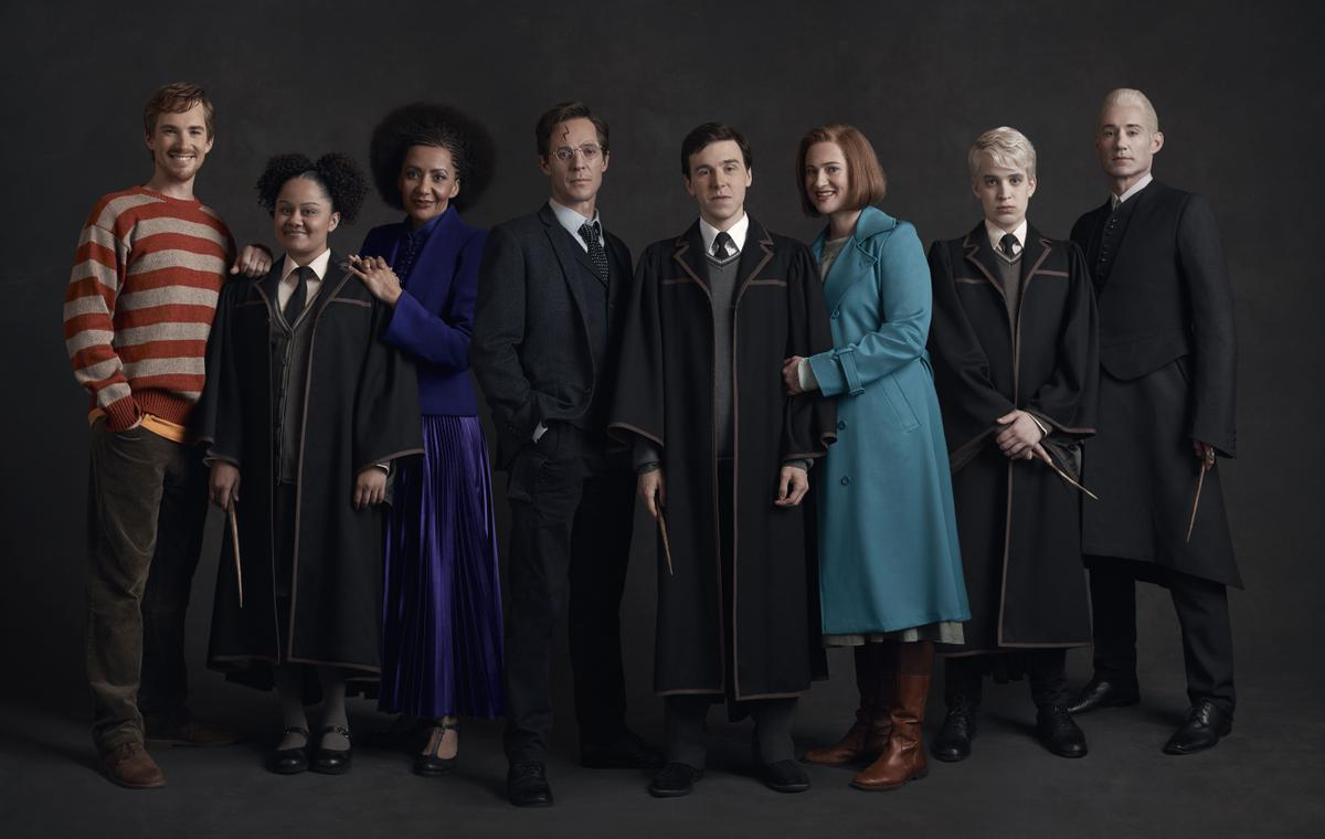 """The Year 2 cast of """"Harry Potter and the Cursed Child"""" Melbourne poses for a photo in costume."""