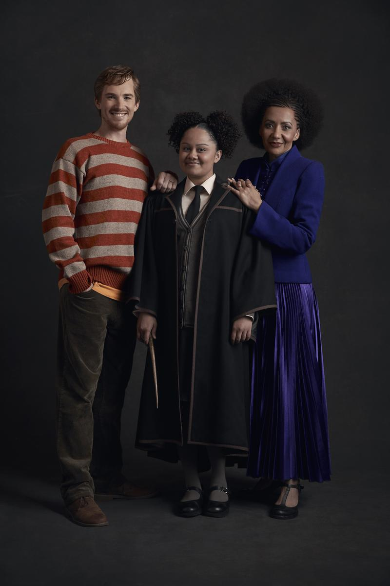 From left: Michael Whalley as Ron Weasley, Manali Datar as Rose Granger-Weasley, and Paula Arundell as Hermione Granger.