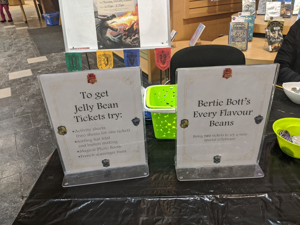 Participants were given guidelines on how to earn a Bertie Bott's ticket.