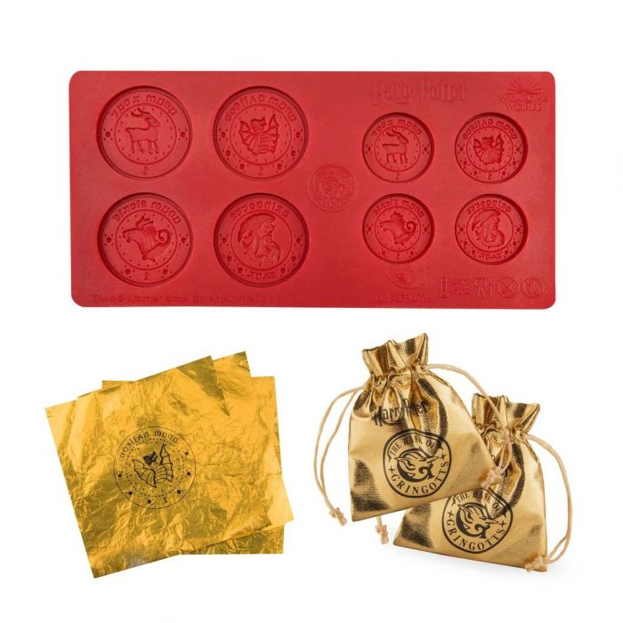 The Harry Potter: Illegal Currency Gringotts Bank Chocolate Coin Mould Preorder from Merchoid is pictured.