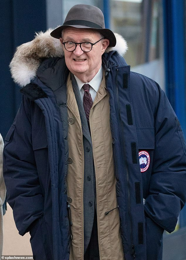 "Jim Broadbent is spotted while filming ""The Duke""."