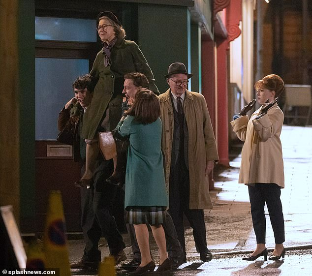 "Jim Broadbent and Dame Helen Mirren film ""The Duke""."