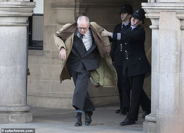 "Jim Broadbent has a run-in with the police during filming for ""The Duke""."