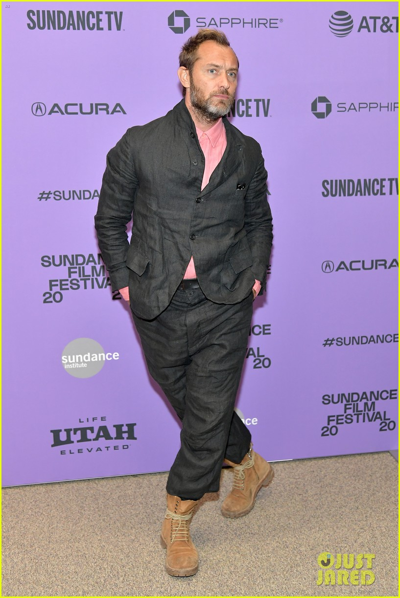 "Jude Law strikes a pose during the premiere of ""The Nest"" at the Sundance Film Festival."