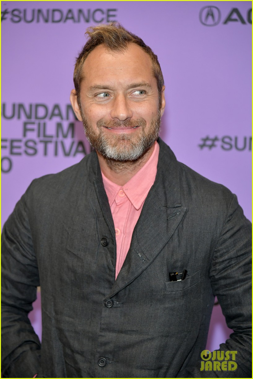 "Jude Law is looking cheeky during the premiere of ""The Nest"" at the Sundance Film Festival."