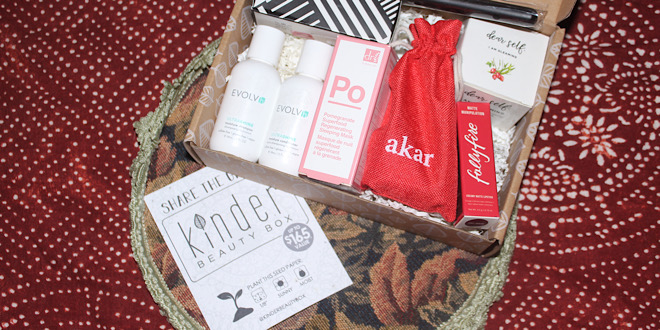 Kinder Beauty Box – open box with planter paper insert taken out