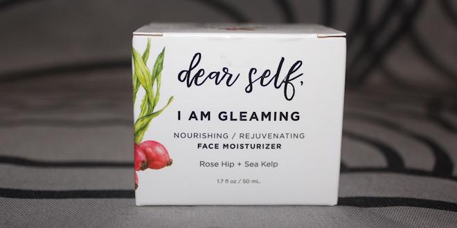 "Kinder Beauty Box – packaged ""Dear Self, I Am Gleaming"" moisturizer"