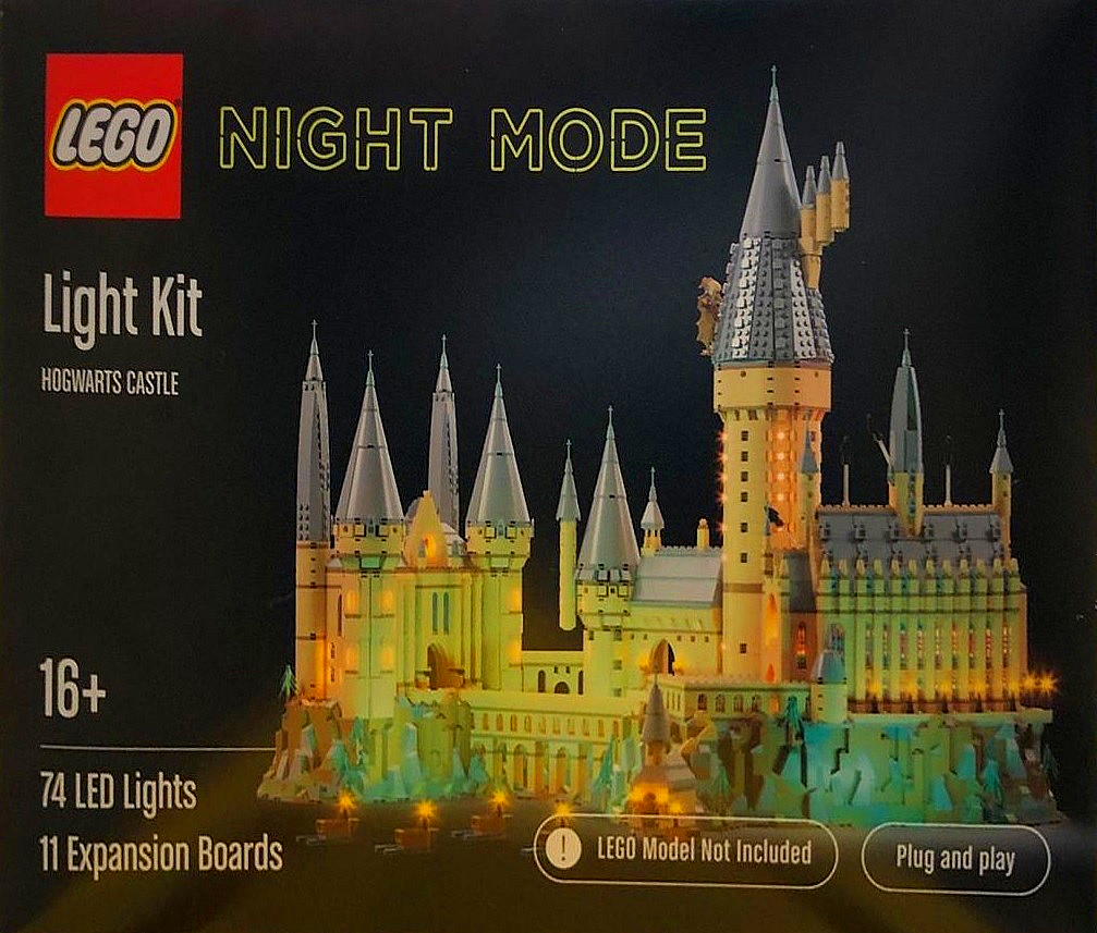 Pictured is a concept box for LEGO Night Mode: Hogwarts Castle.