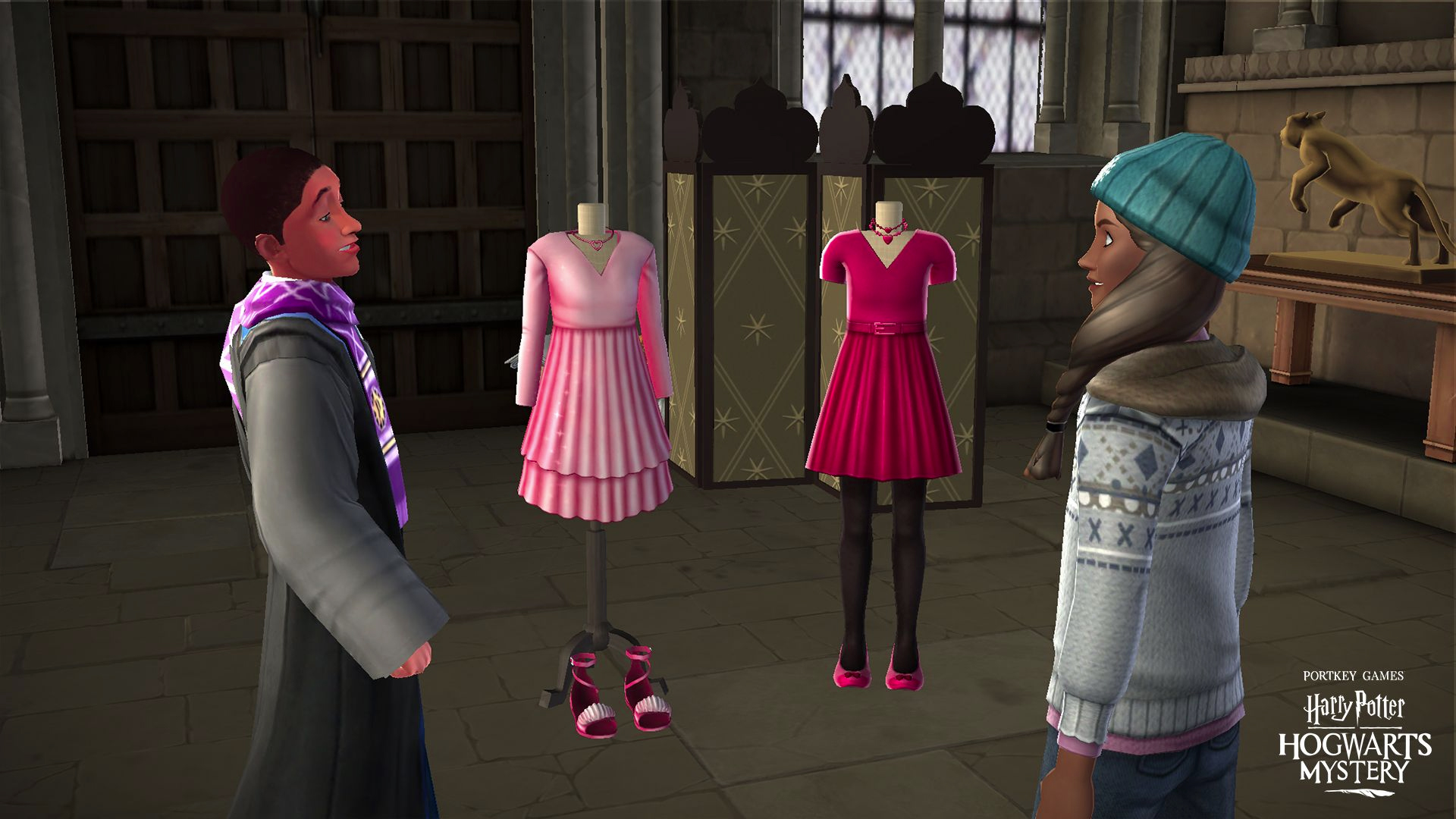 "Andre Egwu has a few dresses for you to choose from in ""Harry Potter: Hogwarts Mystery""."