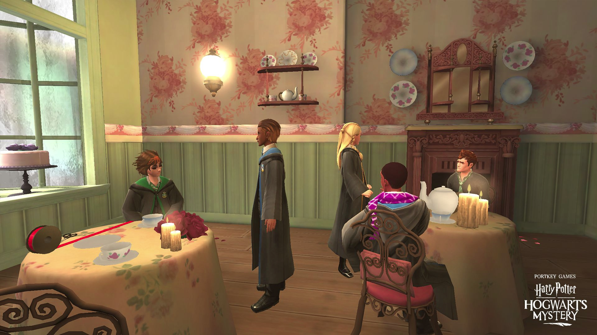"Looks like everyone in ""Harry Potter: Hogwarts Mystery"" is craving a cuppa and some horrific decor at Madam Puddifoot's Tea Shop."