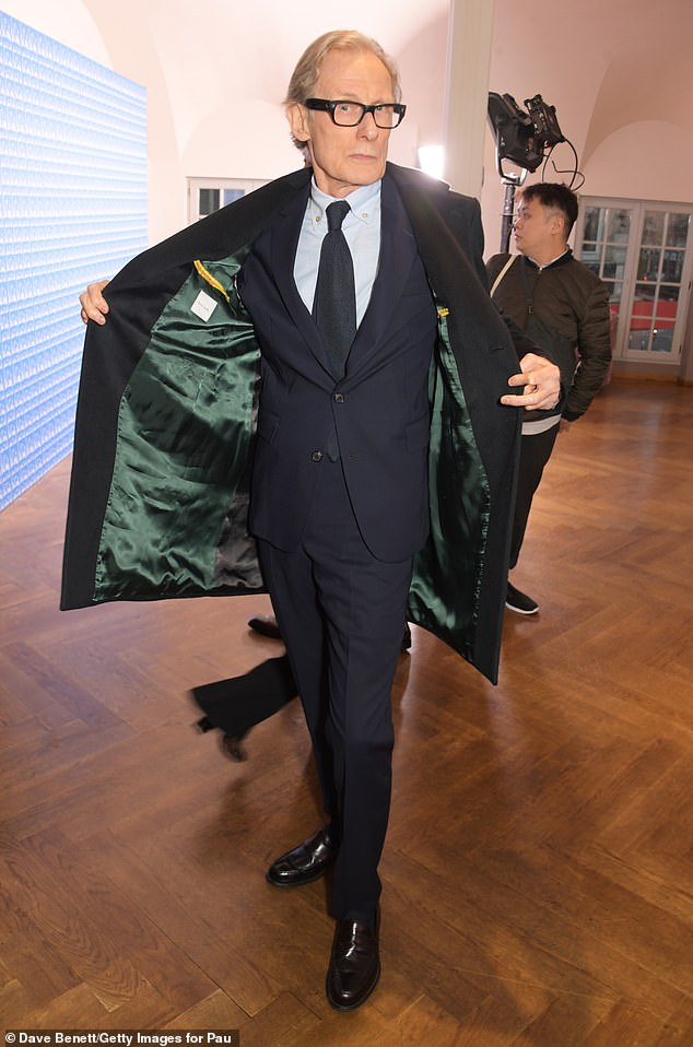 Bill Nighy flashes his own fashion at Paul Smith's 50th anniversary party.