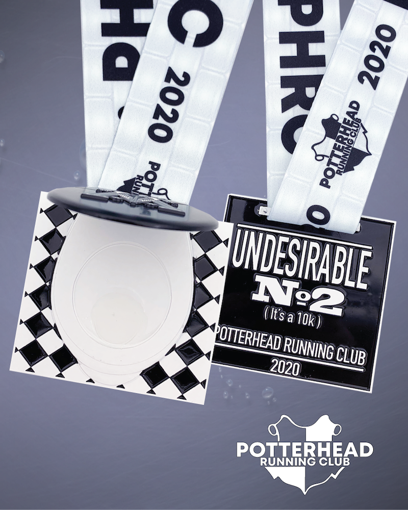 Medal for Potterhead Running Club's second event of 2020.