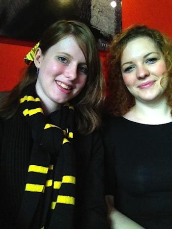 MuggleNet Staff Rosie Morris and Claire Furner, 2012