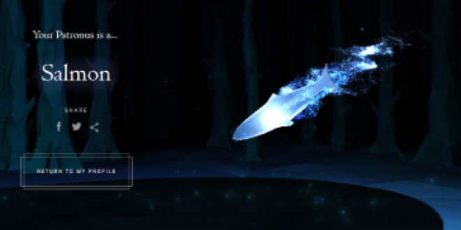 Salmon Patronus from Pottermore