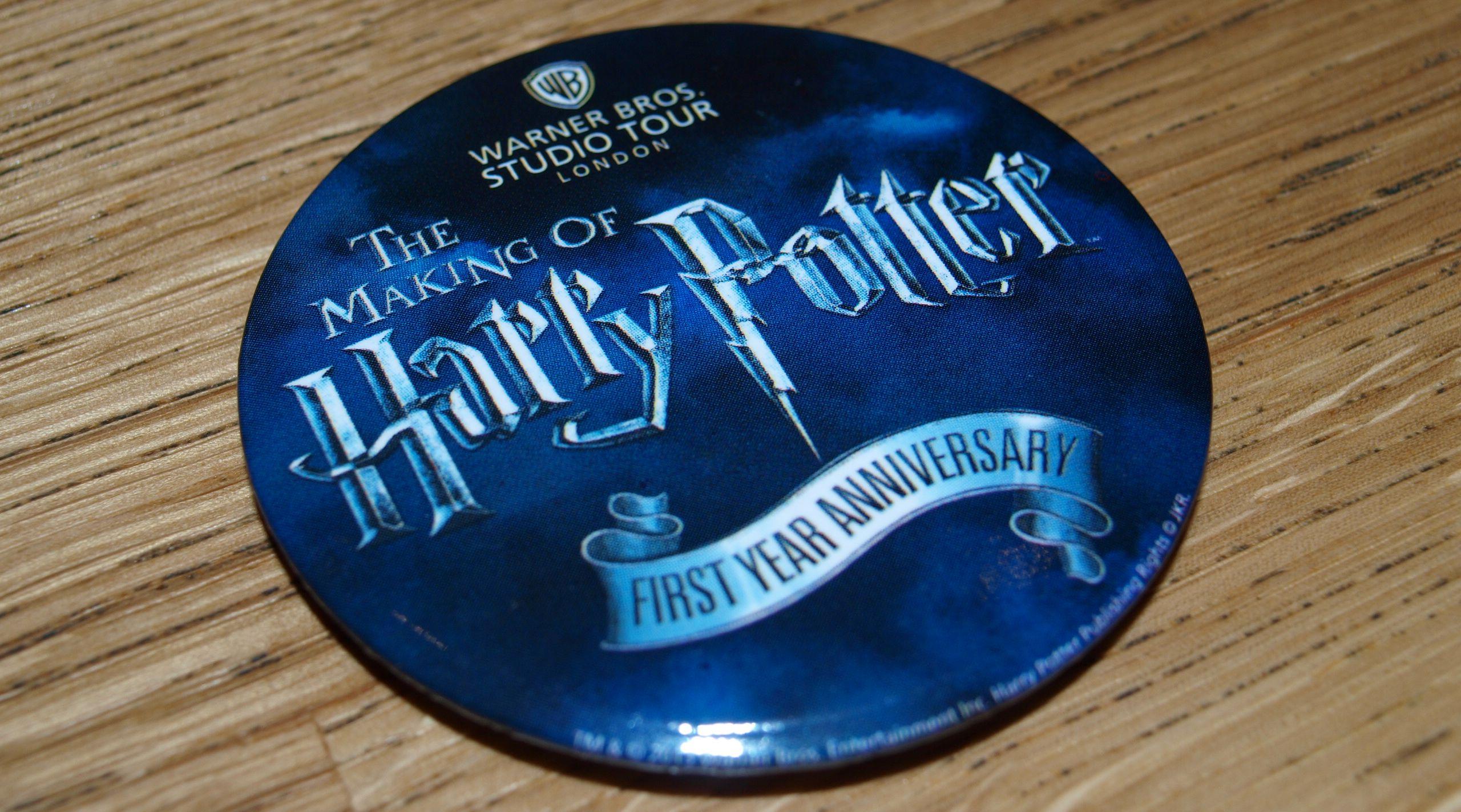 WB Studio Tour One Year Anniversary commemorative badge